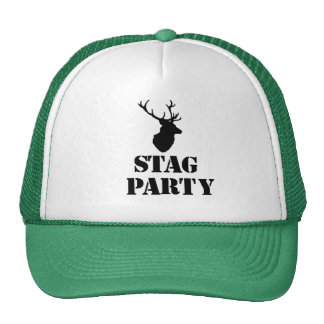 """""""Stag Party"""" hats. Stag head design Trucker Hat"""