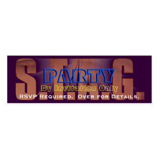 STAG PARTY RSVP 0FFICIAL INVITATION Double-Sided MINI BUSINESS CARDS (Pack OF 20)