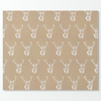 Stag Print Christmas Wrapping Paper