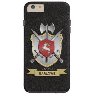 Stag Sigil Battle Crest Black Tough iPhone 6 Plus Case