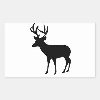 Stag Rectangular Stickers
