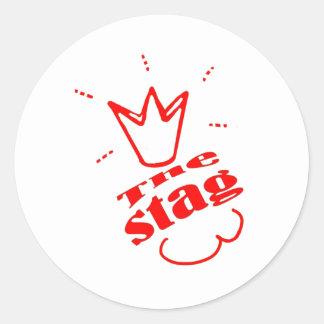 Stag Round Stickers