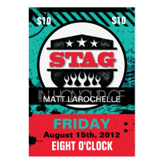 Stag Tickets Large Business Card
