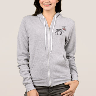 Stag with flowers hoodie