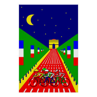 Stage 21 - Champs Elyseés in the evening Posters