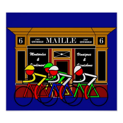 Stage 21 Passing Shop at 6 Place de la Madeleine Poster