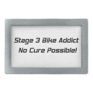 Stage 3 Bike Addict No Cure Possible Rectangular Belt Buckles