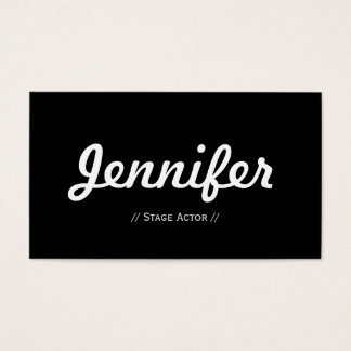 Stage Actor - Minimal Simple Concise Business Card