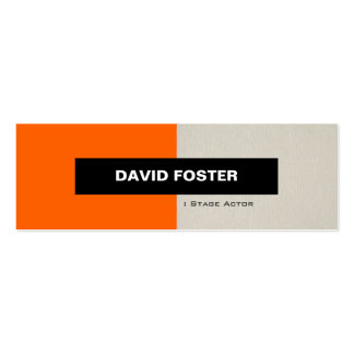 Stage Actor - Simple Elegant Stylish Double-Sided Mini Business Cards (Pack Of 20)