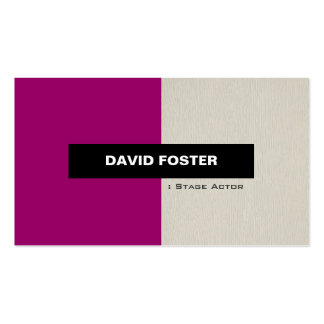 Stage Actor - Simple Elegant Stylish Double-Sided Standard Business Cards (Pack Of 100)