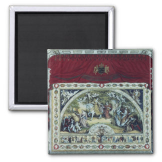 Stage and decorative curtain of the Dresden 2 Inch Square Magnet