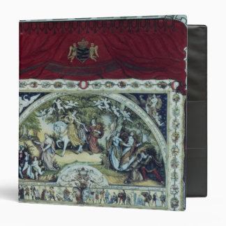 Stage and decorative curtain of the Dresden Binder