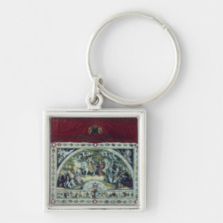 Stage and decorative curtain of the Dresden Keychain