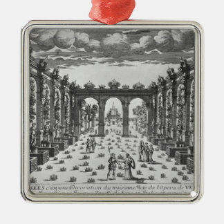 Stage by Giacomo Torelli  for 'Venere Gelosa' Metal Ornament