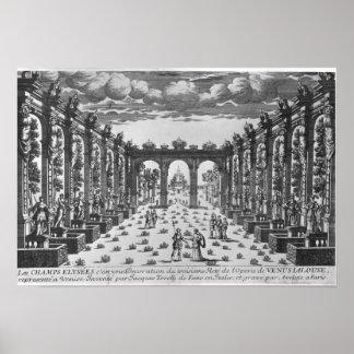Stage by Giacomo Torelli  for 'Venere Gelosa' Print