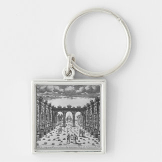 Stage by Giacomo Torelli  for 'Venere Gelosa' Silver-Colored Square Keychain