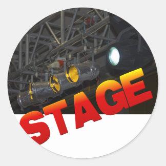 stage classic round sticker
