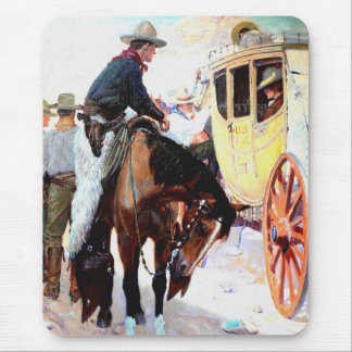 Stage Coach Mouse Pad