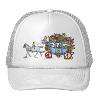 Stage Coach with Kids Cap Trucker Hat