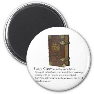 Stage Crew 2 Inch Round Magnet