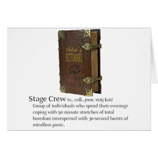 Stage Crew Card