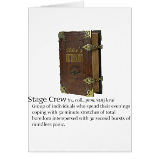 Stage Crew Greeting Cards