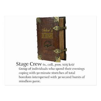Stage Crew Postcard