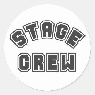 Stage Crew Round Stickers