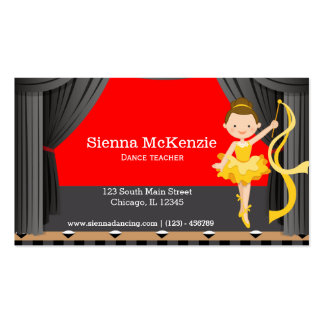 Stage dancer business card templates