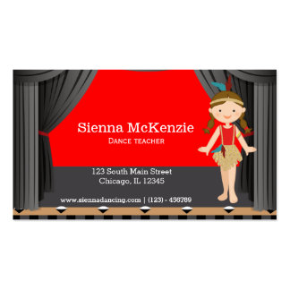 Stage dancer business card template