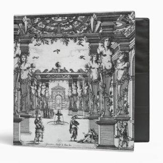 Stage design by Giacomo Torelli  for 'Mirame' Binder
