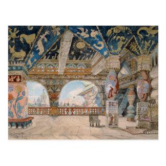 Stage design for Nikolai Rimsky-Korsakov's opera Post Card