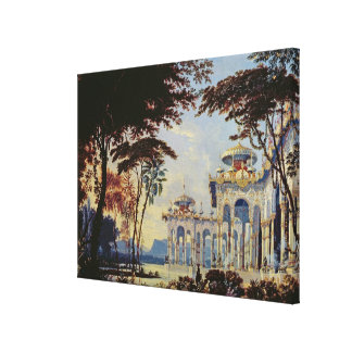 Stage Design for 'Ruslan and Lyudmila' by Canvas Print