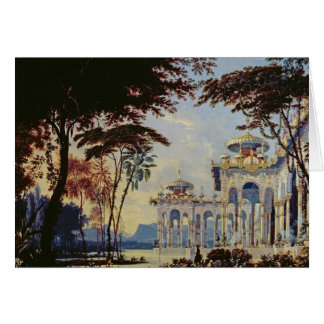 Stage Design for 'Ruslan and Lyudmila' by Card