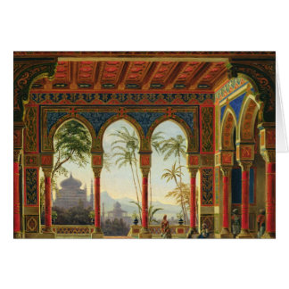 Stage design for the opera 'Ruslan and Lyudmila' Greeting Card