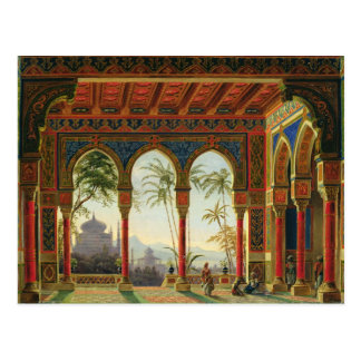 Stage design for the opera 'Ruslan and Lyudmila' Post Card