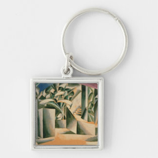 Stage design for William Shakespeare's play Silver-Colored Square Keychain