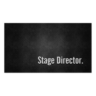 Stage Director Cool Black Metal Simplicity Double-Sided Standard Business Cards (Pack Of 100)