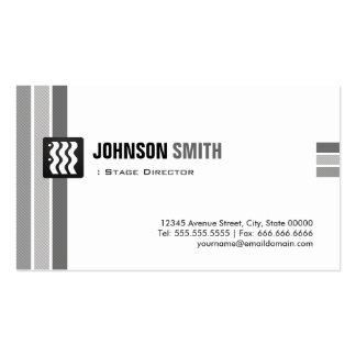 Stage Director - Creative Black White Double-Sided Standard Business Cards (Pack Of 100)