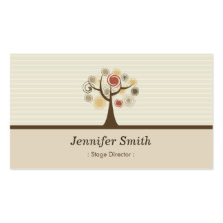 Stage Director - Elegant Natural Theme Double-Sided Standard Business Cards (Pack Of 100)