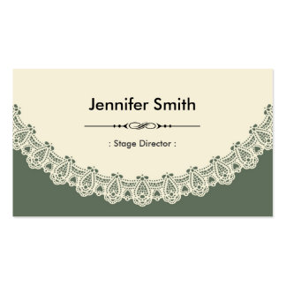 Stage Director - Retro Chic Lace Double-Sided Standard Business Cards (Pack Of 100)