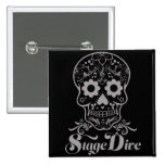 Stage Dive - Candy Skull Black Pinback Button