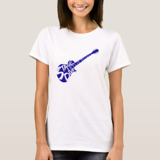 Stage Dive - Kylie Scott - Blue Guitar T-Shirt