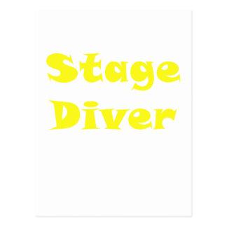 Stage Diver Postcard