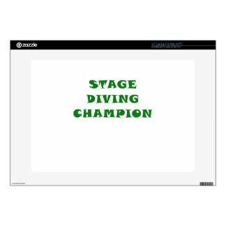Stage Diving Champion Laptop Decal
