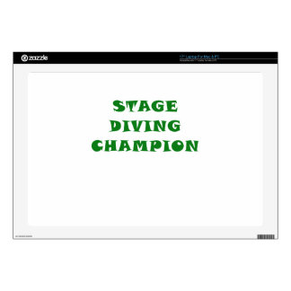 Stage Diving Champion Laptop Decals