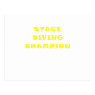Stage Diving Champion Postcard