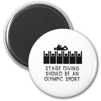 Stage Diving Fridge Magnet
