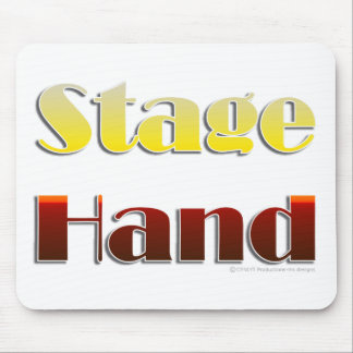 Stage Hand Text Only Mouse Mat