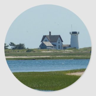 Stage Harbor Light Classic Round Sticker
